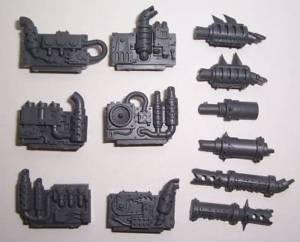 Ork KILLA KANS ENGINE & EXHAUST x3 bits Warhammer 40k
