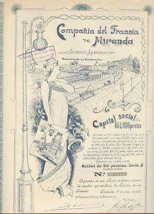 14766 SPAIN 1912 Tranvia de Miranda