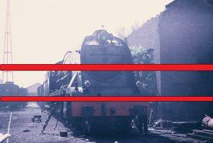 RENFE. Diapositiva Locomotora 241-2101, Miranda,1968
