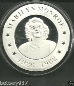 MARILYN MONROE SILVER COMM COIN *SEXY GODDESS* NEW