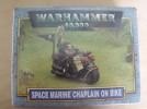 New in box Warhammer 40k Space Marine Chaplin on Bike