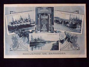 POSTAL ANTIGUA RECUERDO DE ZARAGOZA II   192... ESPAÑA