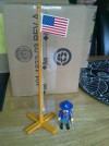 PLAYMOBIL WESTERN U.S CAVALRY FLAG & POLE LARGE. FORT