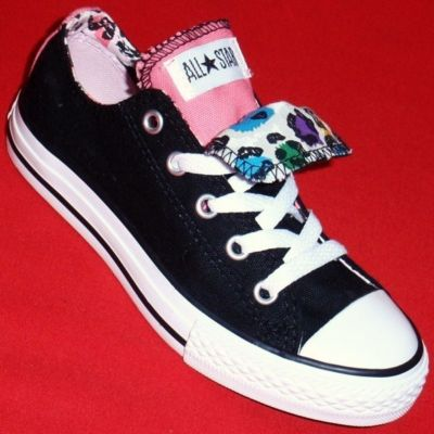 Black Athletic Shoes Women on New Girls Converse All Star Black Pink