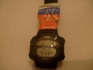 Casio NOS vintage lcd watch BH-100W 946 BIO GRAPH