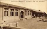 Postal antigua: Zaragoza. Escuelas Portillo