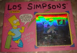 ALBUM DE CROMOS PANINI LOS SIMPSONS 1991