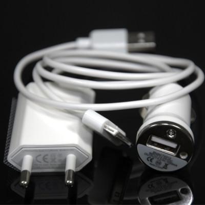 3EN1 CARGADOR COCHE USB Para iPhone 3G 3GS S 4 4G
