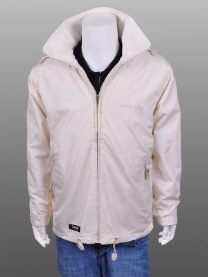 Mens Wind Breaker Waterproof Jacket Coat Beige Sz XXL