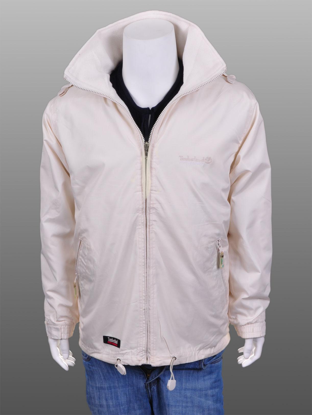 Mens Wind Breaker Waterproof Jacket Coat Beige Sz XL