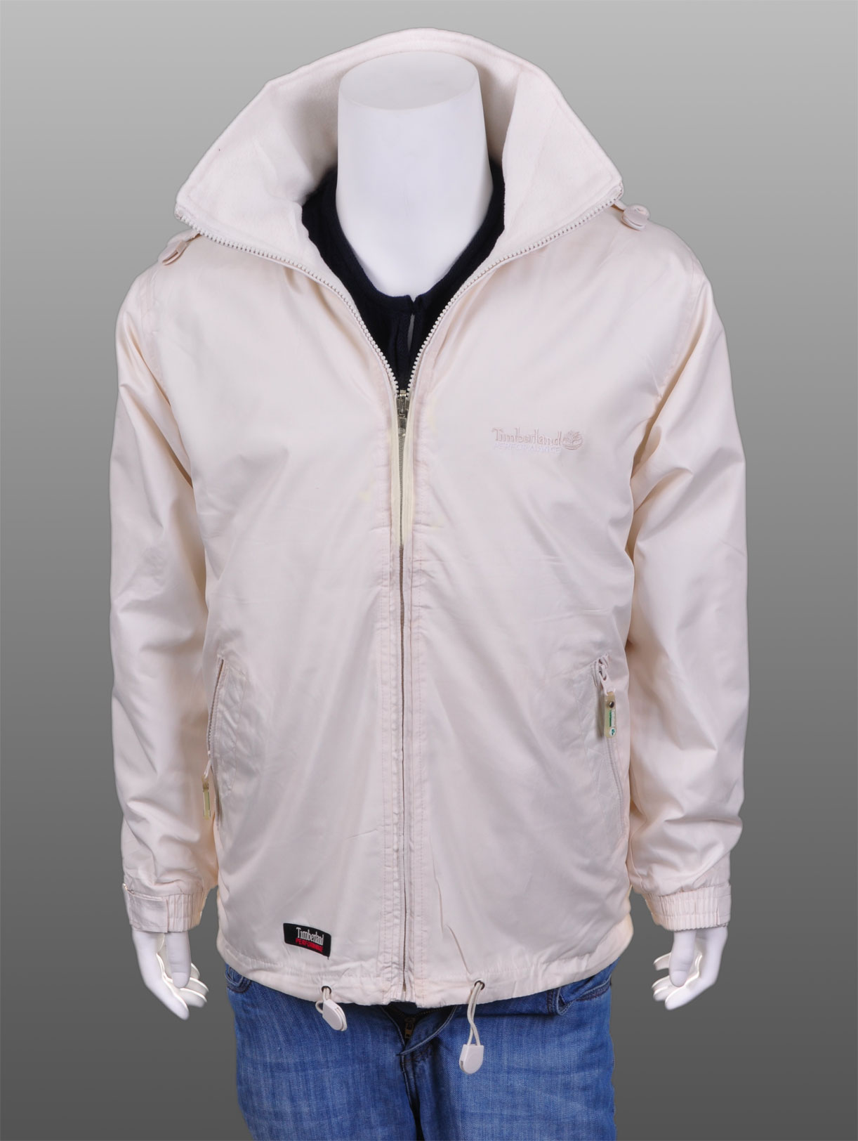 Mens Wind Breaker Waterproof Jacket Coat Beige Sz L