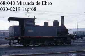 Original  railway slide PORTUGAL r040 MIRANDA 030.0219