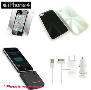 7 artículos iphone 4 4g cargador , fundas , cable