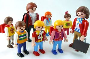 Lot of 6 SCHOOL CHILDREN with 2 TEACHER'S Playmobil