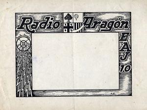 Dibujo a tinta.Boceto para Radio Aragón.Hnos.Albareda