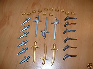PLAYMOBIL LOT OF SOLDIER ACCESSORIES-WEAPONS