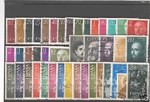 SELLOS DE ESPAÑA USADOS AÑO 1955 COMPLETO