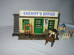 playmobil 3423 alter western sheriff s office rarit t 20. Black Bedroom Furniture Sets. Home Design Ideas