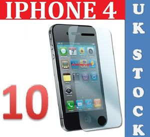 10 x IPHONE4 CLEAR LCD SCREEN PROTECTOR IPHONE 4 4G HD