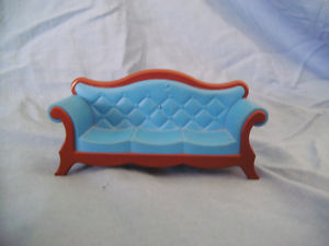playmobil Rare victorian blue sofa with a few marks on