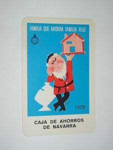 CALENDARIO FOURNIER CAJA DE AHORROS DE NAVARRA 1970.