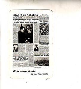 CALENDARIO  FOURNIER DIARIO DE NAVARRA 1963