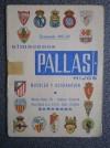 CALENDARIO DE FUTBOL 1967-68 MUEBLES PALLAS ZARAGOZA