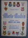CALENDARIO DE FUTBOL 1968-69 ALBERTO ALADRÉN ZARAGOZA