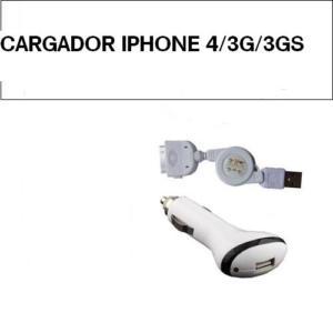 CARGADOR DE COCHE IPHONE 4/3G/3GS