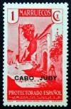 1935-6 CABO JUBY ED#67** 1c rosa SELLOS DE MARRUECOS