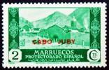 1935-6 CABO JUBY ED#68** 2c verde SELLOS DE MARRUECOS