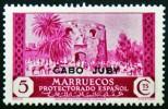1935-6 CABO JUBY ED#69** 5c lila ro SELLOS DE MARRUECOS