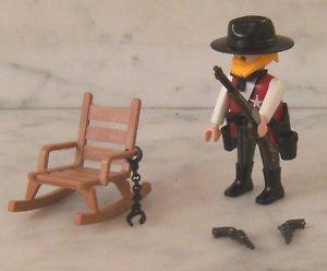 PLAYMOBIL WESTERN SHERIFF FIGUR + SCHAUKELSTUHL