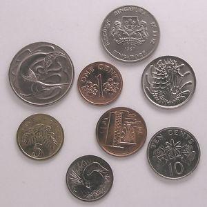 Lote 80-SINGAPUR Bonitas monedas EBC-SC