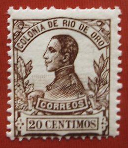 1912 Spain RIO DE ORO ED#70* 20 c. auburn.