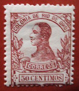 1912 Spain RIO DE ORO ED#74*MC 50 c.carmin.