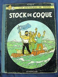 Tintin Stock de Coque 2ª edicion 1965,Juventud