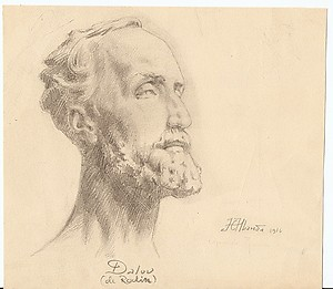 Dibujo a lápiz:De Rodin.Autor:Joaquín Albareda