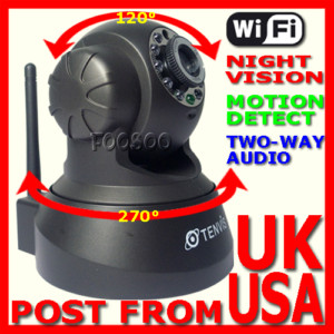 WIRELESS WEBCAM IP CAMERA AUDIO NIGHT VISION WIFI CAM