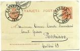 Spain Zaragoza Tarjeta Postal to Poschiavo 1.11.1905