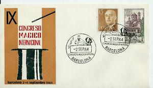 ESPAÑA*SPAIN,1964 FDC IX CONGRESO MAGICO INTERNACIONAL,BARCELONA, 02.09.1964