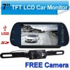 7-Inch TFT Mirror Monitor with Rear-View Night Vision Camera SD USB MP5 FM
