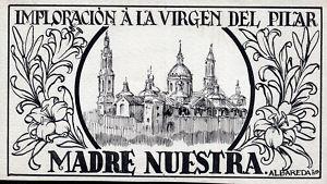 Dibujo a tinta para cartel o publicación.Albareda