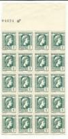 FRANCIA - Bloc 20 Sellos/Timbres  ANTIGUOS/anciens- 3 Fr  (verde/vert)