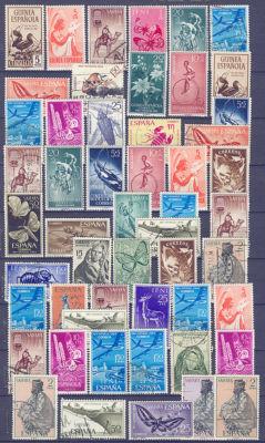 Colección de 52 sellos del Sahara, Ifni y Guinea.