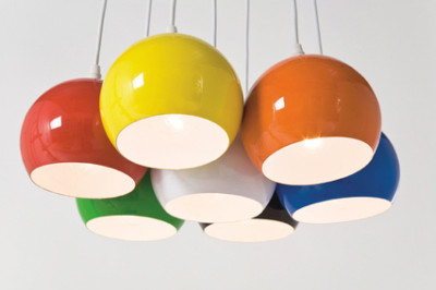 Hängelampe Lampe Design Retro 70er Pendant Light Eames Suspension Space Age 60s