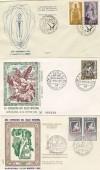3 SOBRES BARCELONA EXPO SELLO MISIONAL RELIGION 1958 SELLO 1968 PALOMA 1969 CRUZ