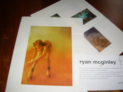 RARE RYAN MCGINLEY 8 PAGE AGNES B AD ON PAPER EXCELLENT CONDITION POINT D'IRONIE
