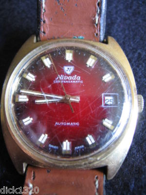 VINTAGE 'NIVADA' COMPENSAMATIC GENTS SWISS MADE AUTOMATIC WRISTWATCH c.1960's