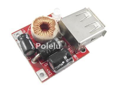Adjustable Step-down Power Supply USB Charger Module